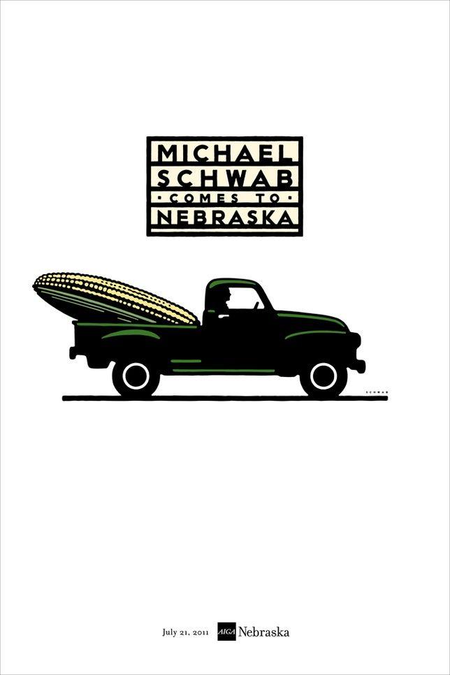 AIGA Michael Schwab poster