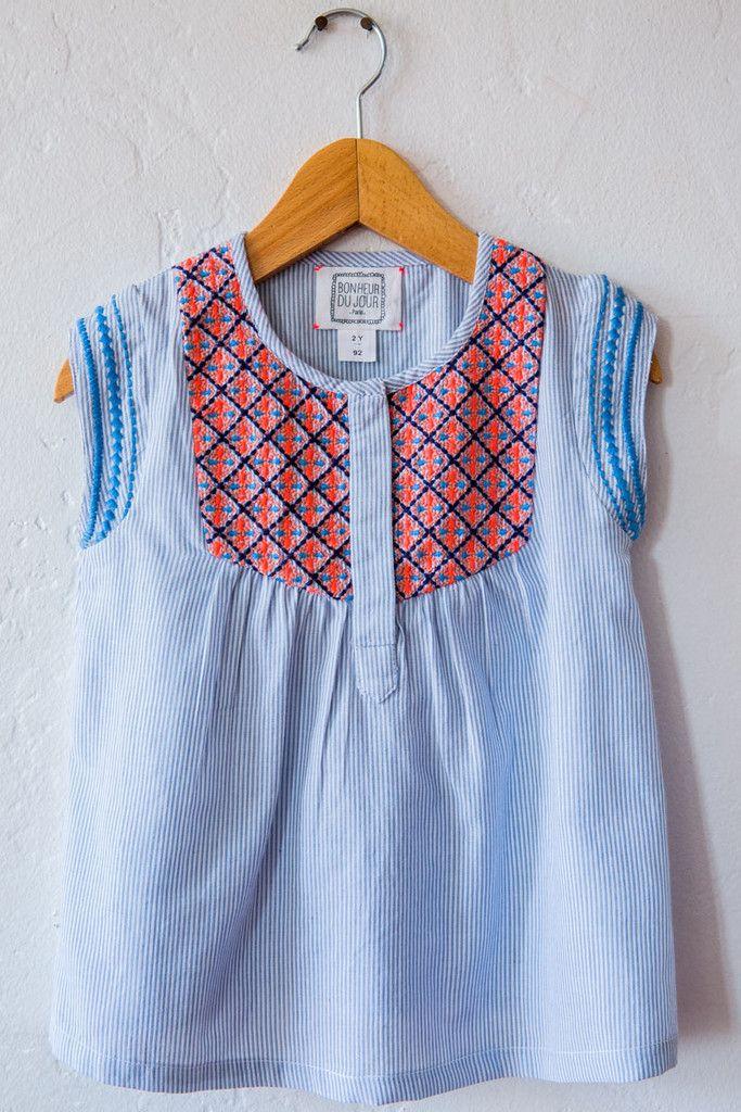 bonheur du jour blue lucky shirt – Lost & Found