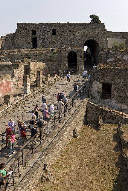 Pompeii, Italy Entrance to the City...amazing to walk the same paths people did in 79 a.d.