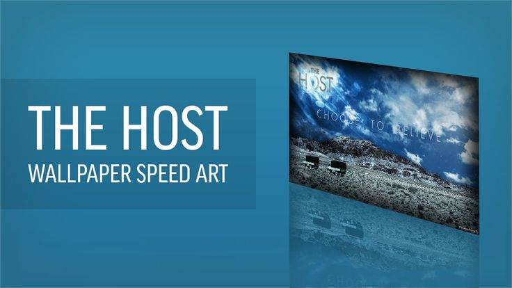 This is a speed art of me making a The Host desktop wallpaper download link below.