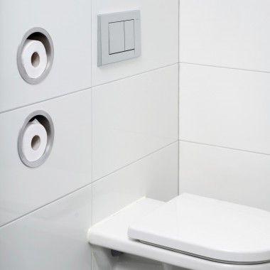 Easy Drain | Toilet Paper Roll Storage - Round - Container Series | Portarollos para el baño