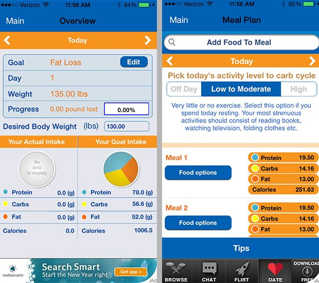 Real food rookie? The Nutritionist app is ideal for beginners who need some extra help along the way.