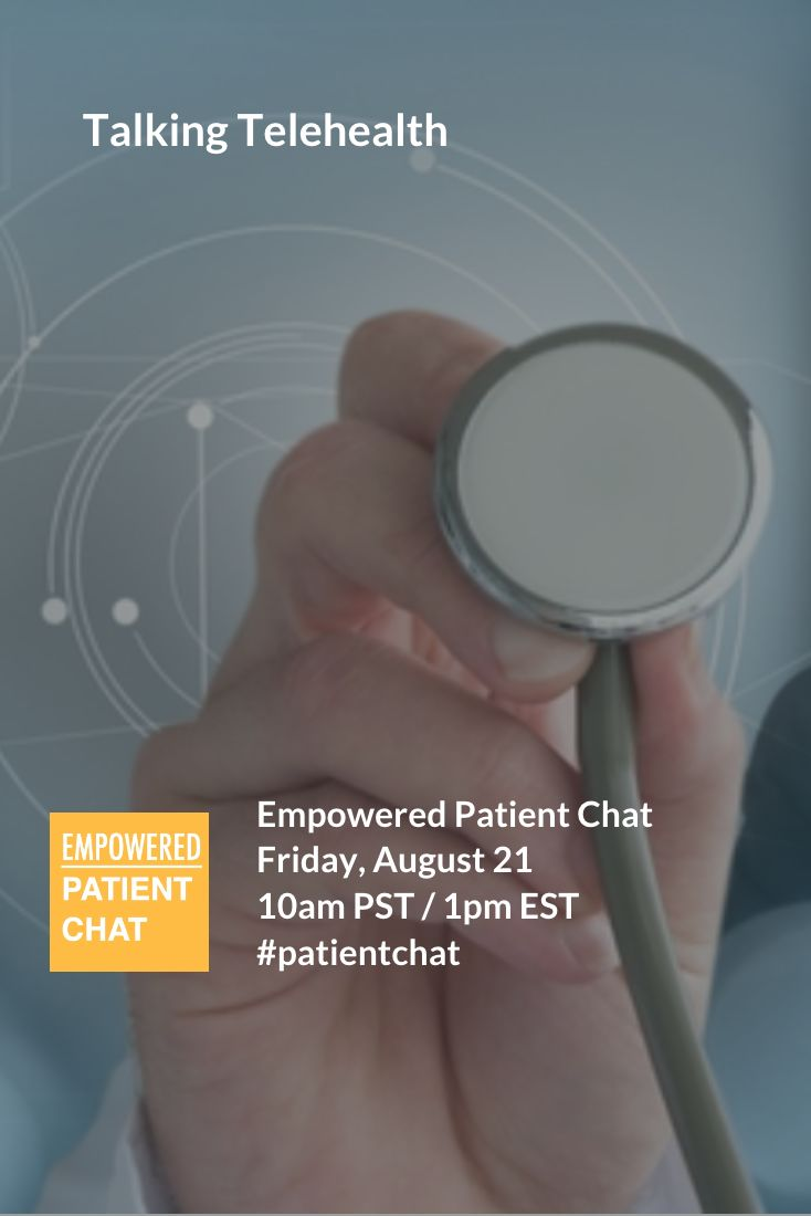 Are you interested in #digitalhealth advances? Or want to take charge of your own health? You're invited to our bi-weekly #tweetchat #patientchat! This week we're Talking Telehealth. Join us! And be sure to sign-up for updates at intake.me/sign-up.