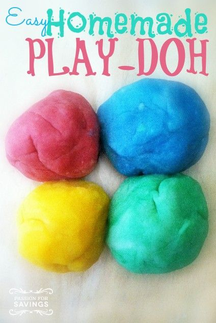 Be sure to check out this Easy Homemade Play-Doh recipe! A super fun activity to do with the kids!