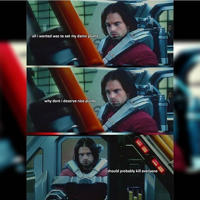 Poor Bucky baby, but the last line sounds like something I'd say.