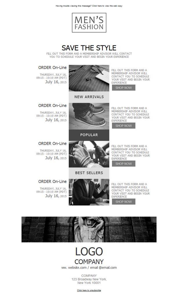 22 best Ropa Masculina - Plantillas Newsletter images on Pinterest - membership advisor sample resume