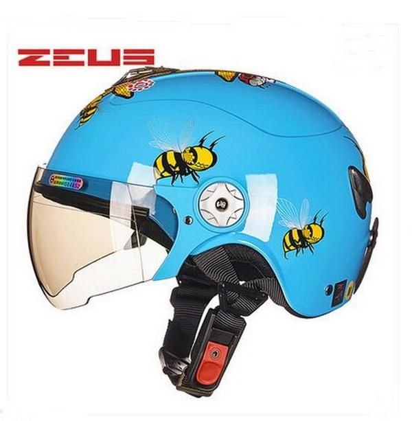 summer red Boys girls children Kick scooter motorcycle ZEUS helmet with bee bear ,MOTO electric bicycle capacete for child kids