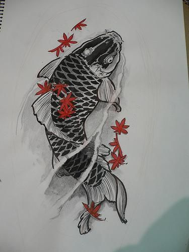 koi fish tattoo arm designs