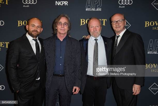 David Belle Jackson Browne Gary Slaight and Paul Haggis attend the Artists For Peace And Justice Festival Gala 2017 Presented By Bovet 1822 at AGO on...