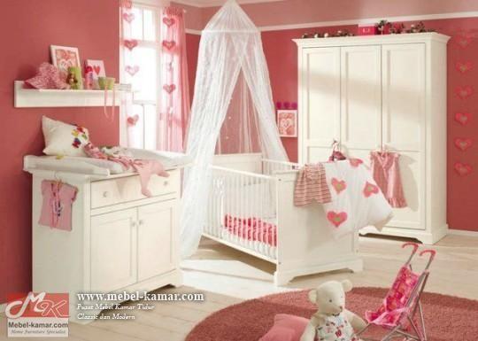 Set Kamar Bayi Warna Putih (SKB1)