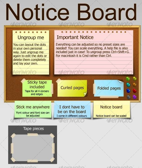 Affiliate Sponsored Notice Boardnotice Boardnotice Board Simple Notice Board Which Could Be Used On Website Template Design Post It Notes Website Template