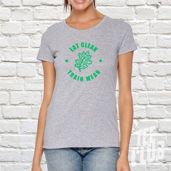 Ladies yoga shirt  kale tee  organic shirt  health food by TeeClub