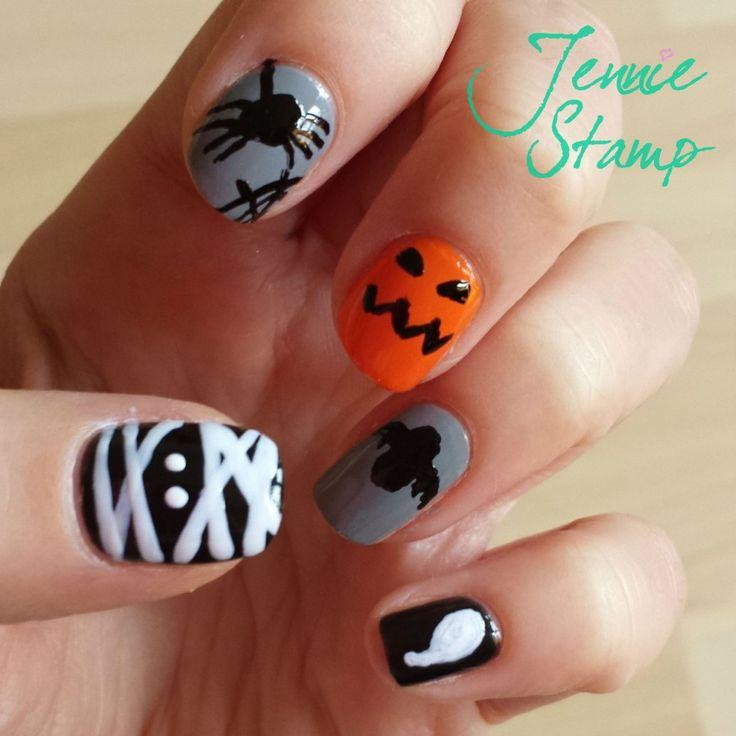 72 best Halloween nail art images on Pinterest | Halloween ...