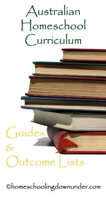 Australian National Curriculum homeschool guides and outcome lists