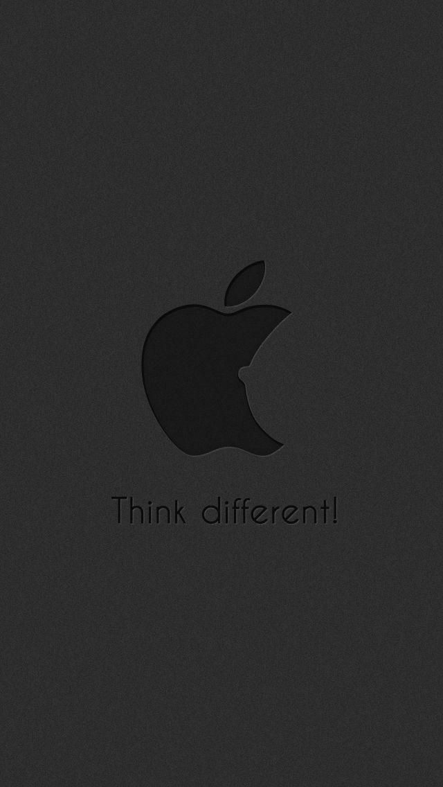 Funny-Subtle-Apple-Think-Different-Logo-Dark-iPhone-5-Wallpaper