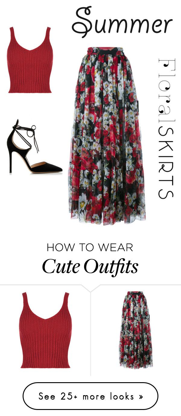 """cute summer outfit"" by proudfoot-kay on Polyvore featuring Dolce&Gabbana, Gianvito Rossi and Floralskirts"