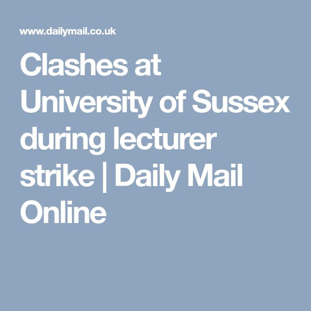 Clashes at University of Sussex during lecturer strike | Daily Mail Online