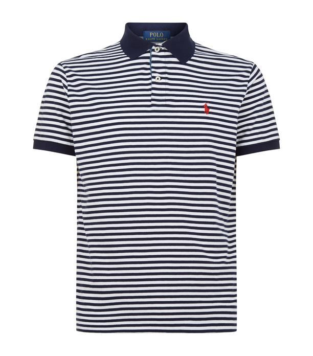 Polo Ralph Lauren Fine Stripe Polo Shirt Available To Buy At Harrods Shop Clothing Online And Earn Rewards Points Polo Ralph Lauren Fine Stripe Polo Shirt Avai