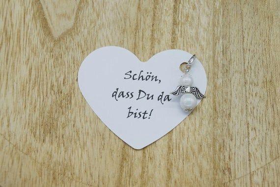 Kommunion Gastgeschenk,Taufe,Hochzeit 10 Herz Schutzengel im Glas Geburt