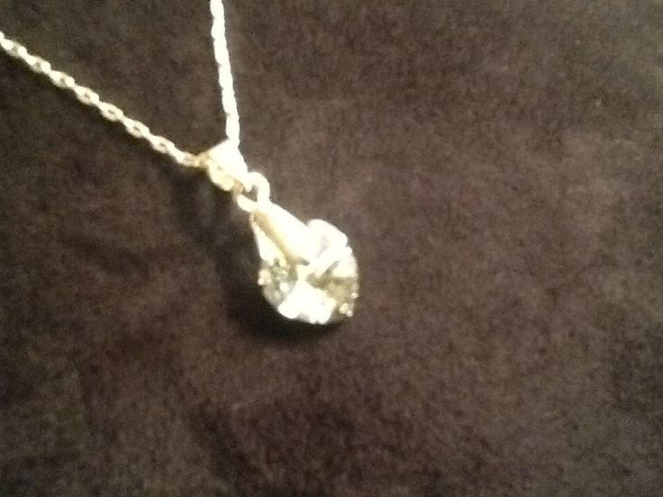 Swarovski Crystal heart pendant & Silver chain -Simply beautiful- #JulijanaJewelry