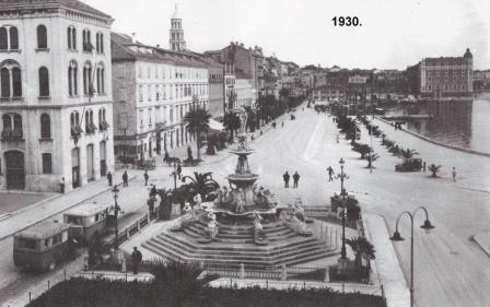 Splitska riva, 1930.