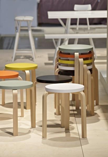 Artek - News & Events - Putting Artek's values into practice, Versatile Artek at Habitare furniture fair http://www.nest.co.uk/product/artek-60-stool