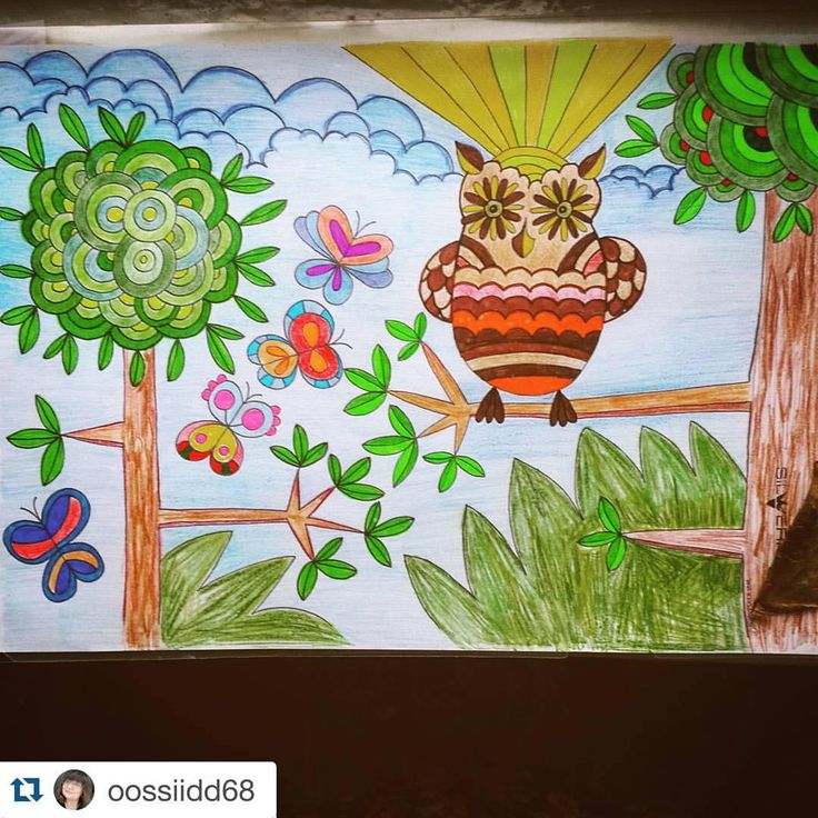 @oossiidd68 made this nice #mielikuvia colouring. It look like 70's. I ❤️ it  You can print this free #colouringpage at my web page paivivesala.com  #Repost @oossiidd68 with @repostapp. ・・・ Hello from Russia #mielikuvia