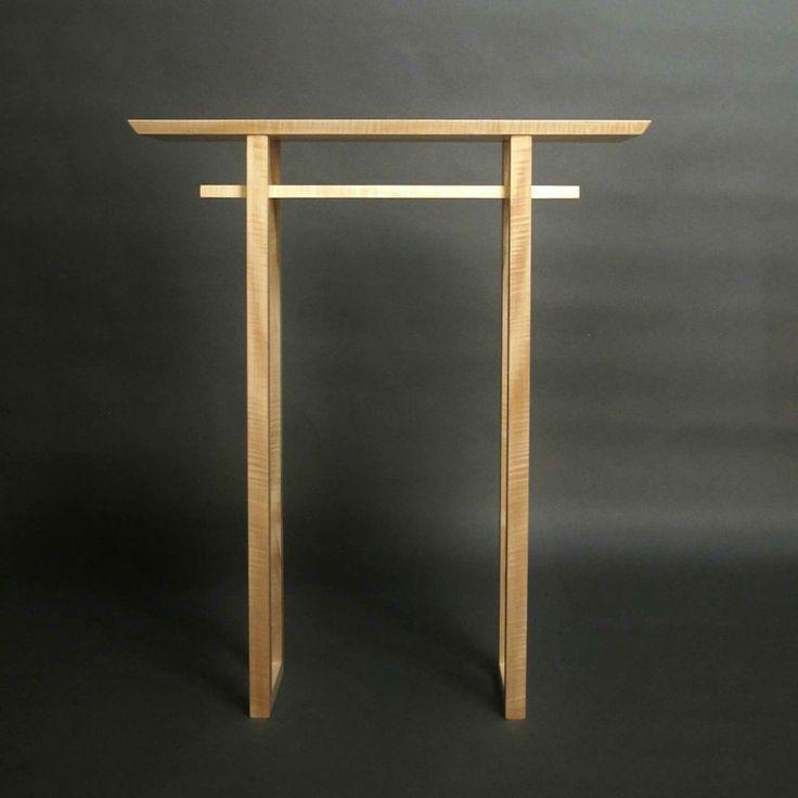 Narrow Altar Table: Tall Console Table, Small Side Table, Wood Entry Table   Handmade Custom Furniture