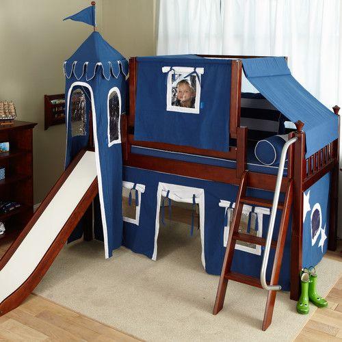 Wow Twin Low Loft Bunk Bed