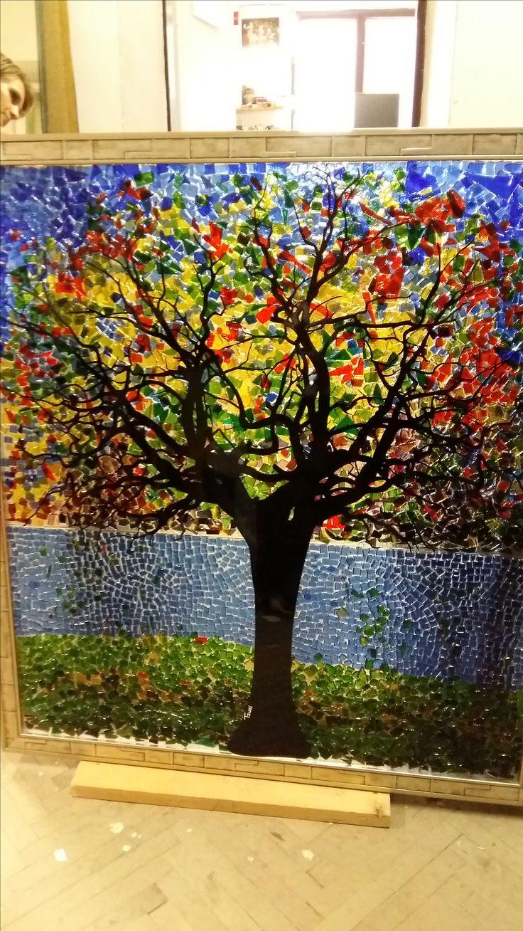 Strom života-umelecké sklo, tepelné spracovanie