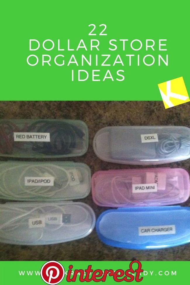 22 Ingenious Dollar Store Organization Ideas Check…