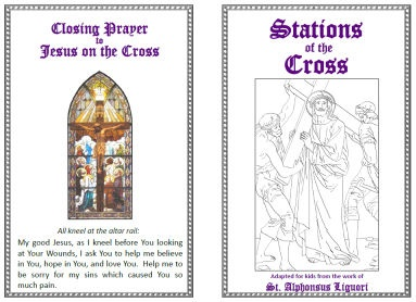 printable stations of the cross for childrencollection of links for various printable - Lent Coloring Pages Booklets Kids
