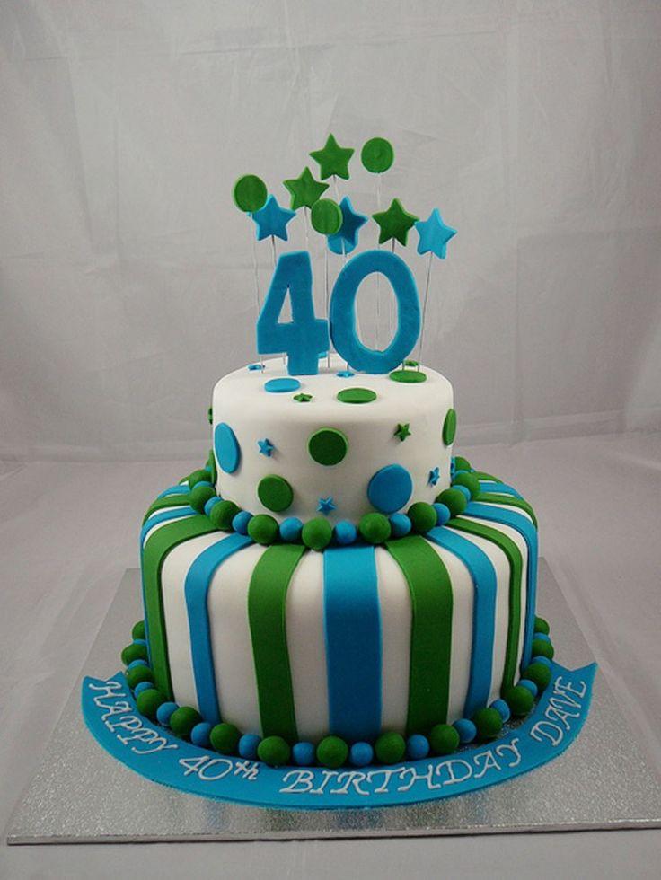 114 best 40TH BIRTHDAY images on Pinterest Birthday cakes