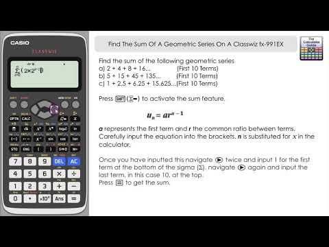 Sum Of A Geometric Series On A Casio Classwiz fx-991EX fx