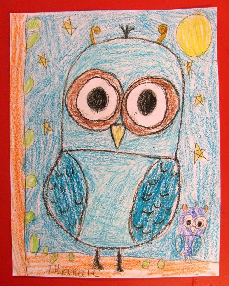 Veilig leren lezen -'kern 6: Teach How to Draw Gorgeous Owls in Grade One   Art Lessons For Kids