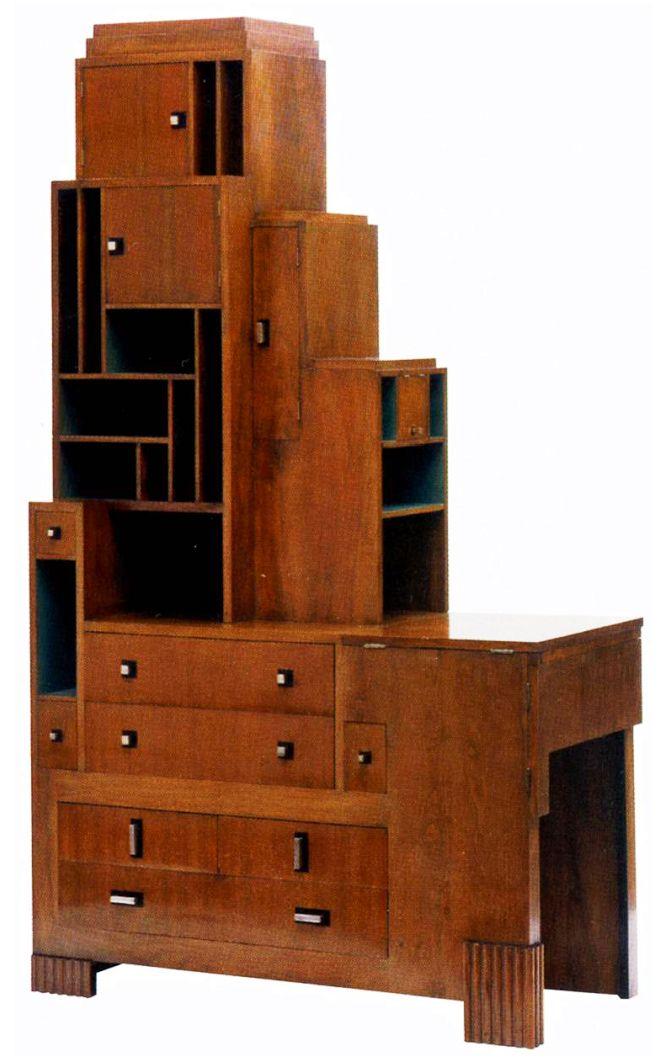 Paul Frankl - Art Déco - Bibliothèque 'Gratte Ciel' - Années 20