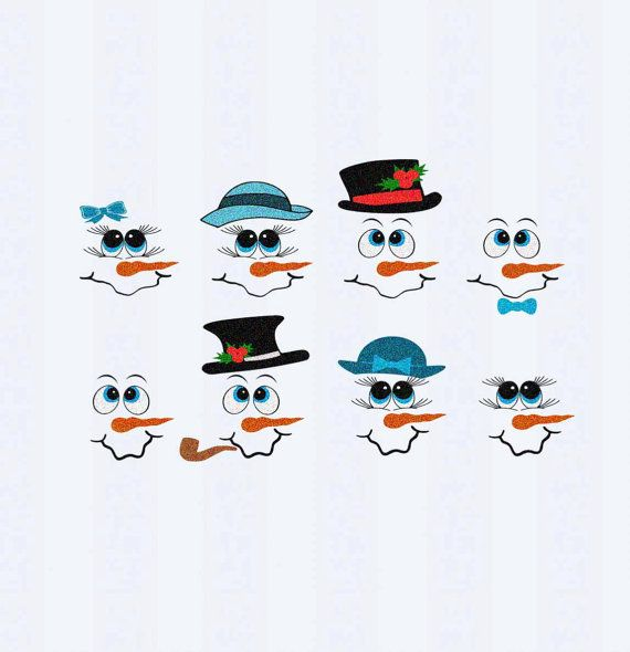 Snowman Face SVG, EPS, PNG and DXF files  This digital artwork can be used by cutting software, such as Cricut Design Space, Silhouette Studio, Sure Cuts A Lot (SCAL) and other cutting software. The high quality files will cut cleanly and smoothly since they are professionally digitized instead of auto-traced.  [ What you get]  8 Snowman faces in in SVG, EPS, PNG and DXF file format  ***File will not have the watermark as pictured  [ Shipping ]   These are digital SVG files, no physical item…