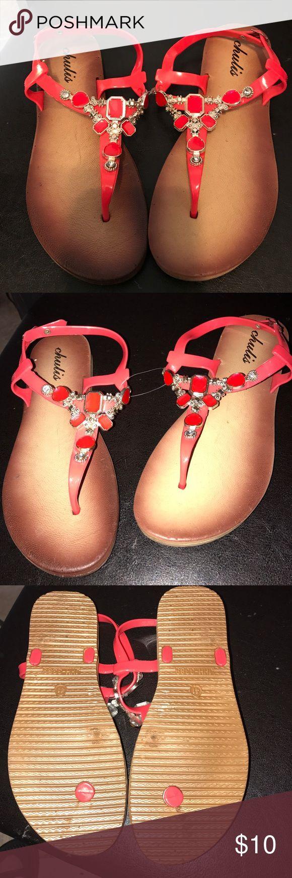 CHULIS SANDALS COLOR CORAL CHULIS CORAL SANDALS CHULIS Shoes Sandals
