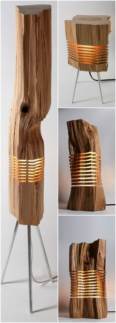 Beautiful Light Sculptures made with California Cedar Wood
