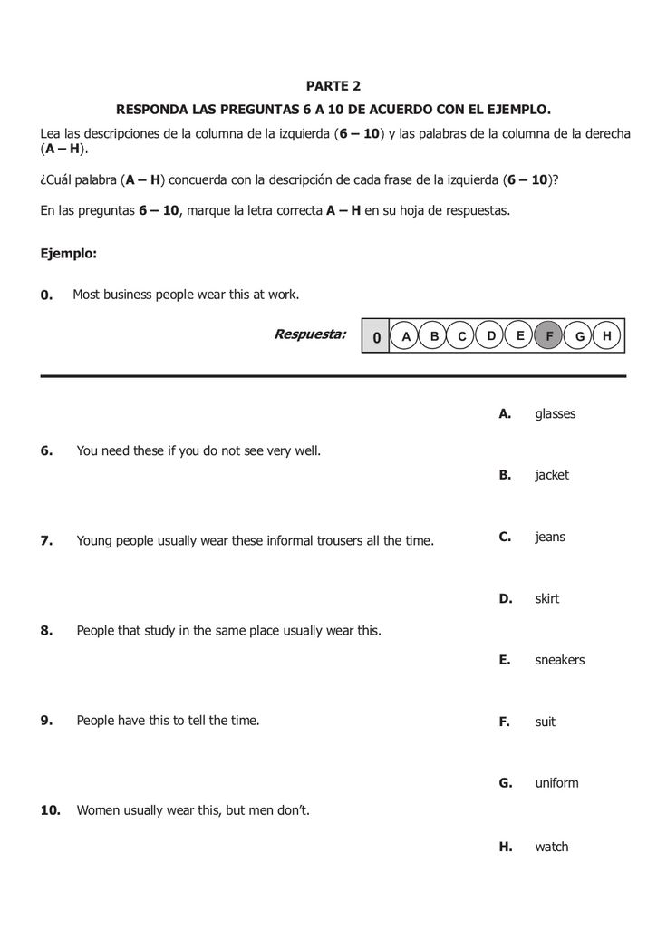 Icfes ejemplo de preguntas inglés 2010