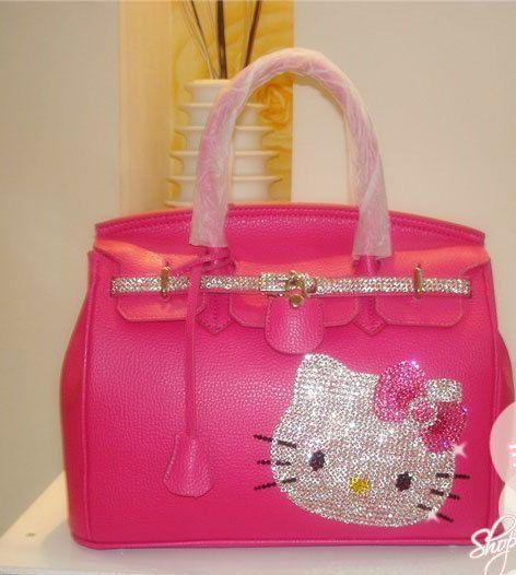 Swarovski Crystal Bling Hello Kitty PINK handbag Purse (omg omg omg omg I NEEEEED this!!!!!!!)