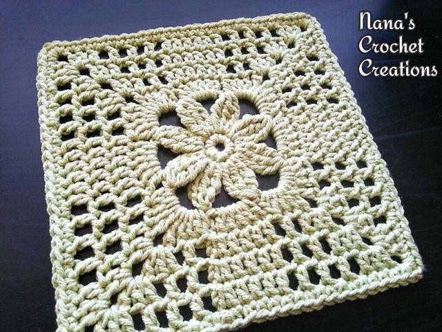 "Ravelry: Nana's ""Summer Trellis Bloom"" Square pattern by Des Maunz"