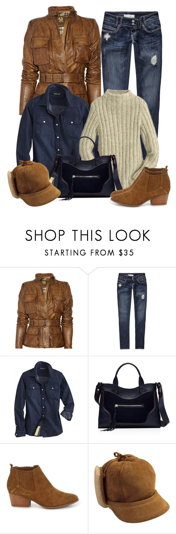 """Untitled #1264"" by gallant81 ❤ liked on Polyvore featuring Belstaff, Almost Famous, Elizabeth and James and Golden Goose"