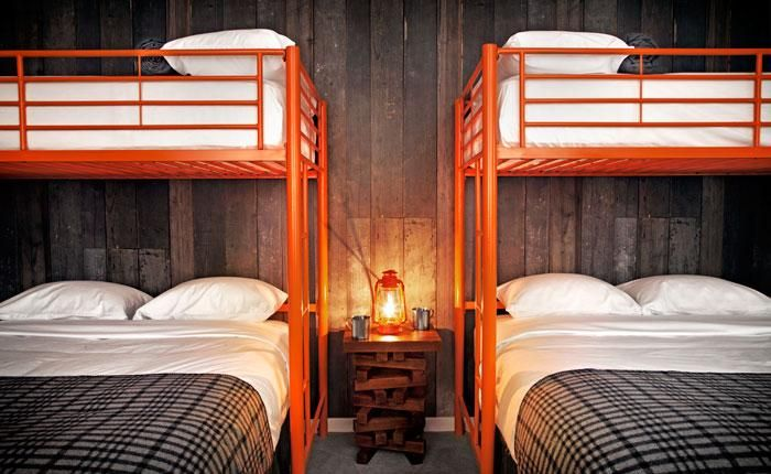The double bunk room inspiration for my ski house. A High-Style Basecamp in Tahoe : Remodelista