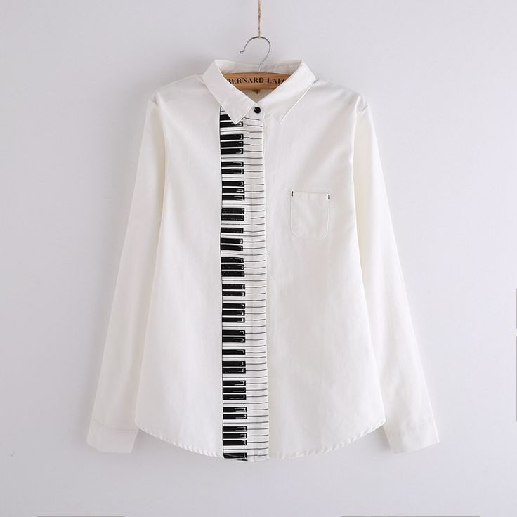 G014 women sping and Autumn vintage solid cotton blouse long sleeve Cute Piano Print White Shirts casual Tops Blusas-in Blouses & Shirts from Women's Clothing & Accessories on Aliexpress.com | Alibaba Group