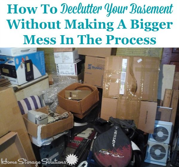 How To Declutter Your Basement {Without Making A Huge Mess In The Process} Part 84