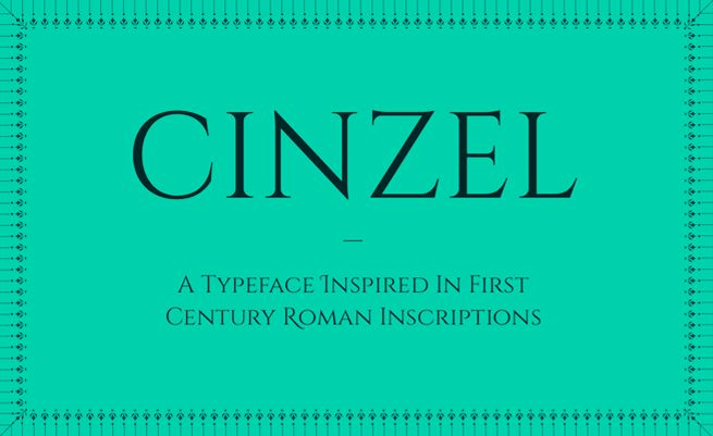 ndiscovered :: Cinzel Font Family
