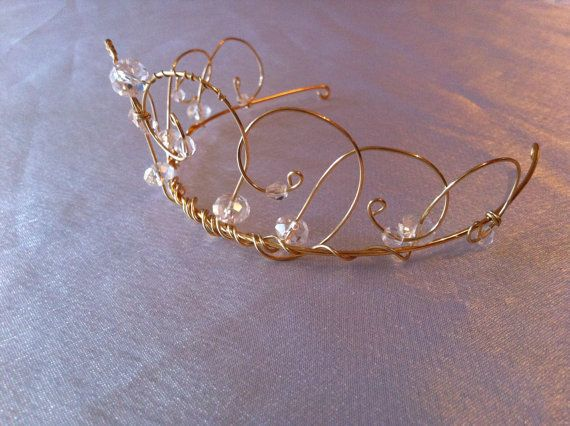 Shimmer Tiara A Wire Crown Flower Girl Princess By