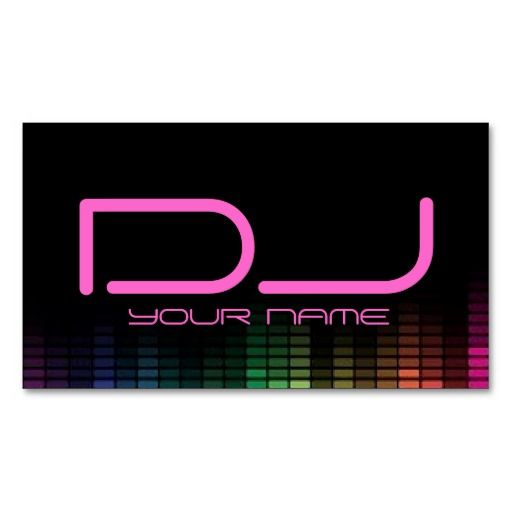 335 best dj business card templates images on pinterest dj female dj business card wajeb Images