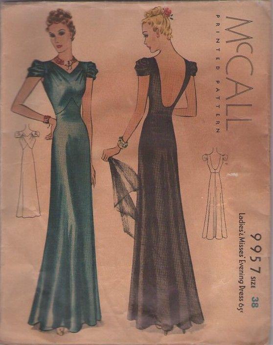 V back evening dress patterns